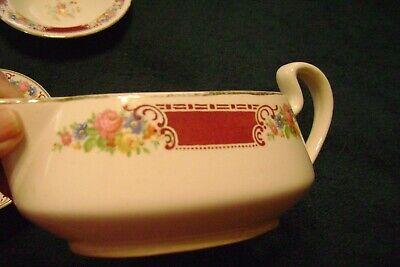 Vintage Homer Laughlin Lady Alice Brittany Red Creamer
