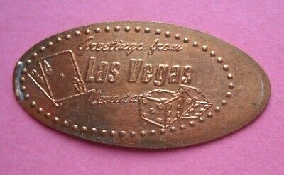 Greetings From Las Vegas elongated penny Nevada USA cent souvenir coin