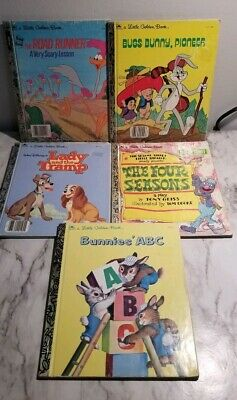Lot of 5 A Little Golden Vintage Walt Disney Classic Kids Books