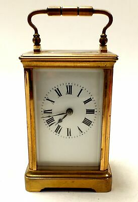 Vintage Unbranded Small BRASS Mechanical Carriage Clock - B35