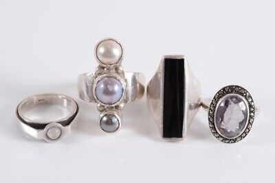 i69s31- 4x Silber Ring