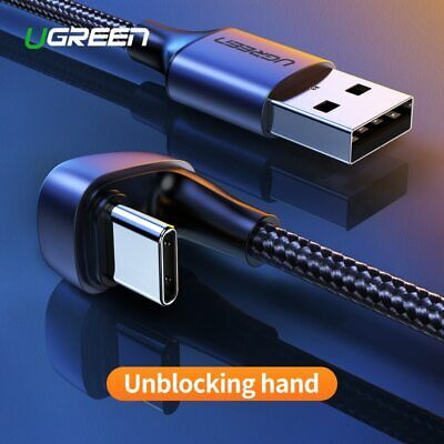Ugreen USB Type C Charger Cable 180° Fast Charging USBC for Samsung Galaxy Note8
