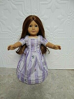 Pleasant Company American Girl Doll Felicity Purple Meet Dress Red Hair