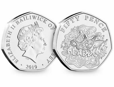 2019 CHRISTMAS PANTOMIME ALADDIN  BUNC  50p Fifty Pence Coin , Low Mintage
