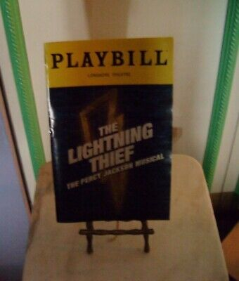 The Lightning Thief: The Percy Jackson Musical Playbill- Longacre Theatre