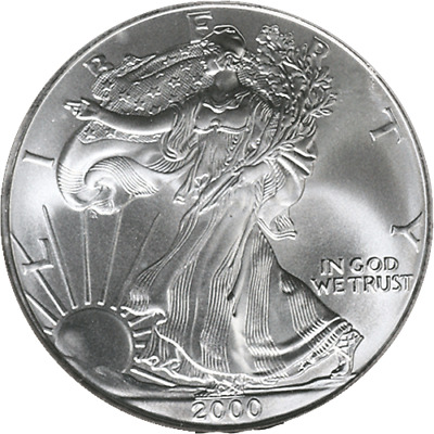 2000-P Silver American Eagle $1 NGC MS69 Brown Label - STOCK