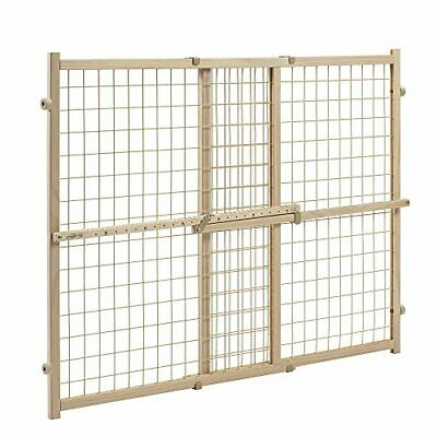 Evenflo Position and Lock Tall Pressure Mount Wood Gate (Tan)