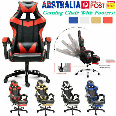 Racing Gaming Chair Office Computer Leather Chairs Racer Executive Seat NEW