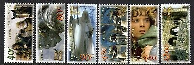2002 NEW ZEALAND LORD OF THE RINGS 2nd issue SG2550-2555 mint unhinged