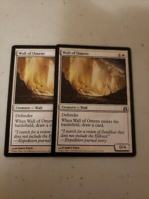 Magic the Gathering-- Wall of Omens x2 (Commander)
