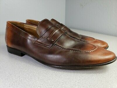 Kenneth Cole Collection Sz 12 Mens Two Tone Brown Loafers Sz 12 Strap GUC