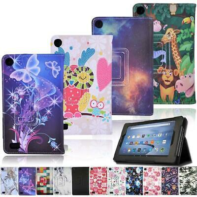 Smart Stand Leather FLIP Case Cover For Amazon Fire 7 5th/7th/9th Gen Tablet