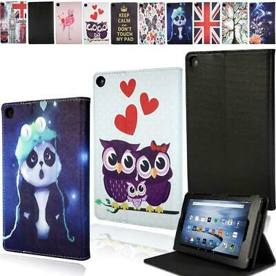 For Amazon Kindle Fire 7/HD 8/HD 10 Alexa Tablet Smart Leather Stand Cover Case