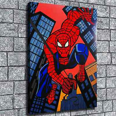 "12""x16""Spiderman  Poster HD Canvas print Painting Home Decor Picture Wall art"