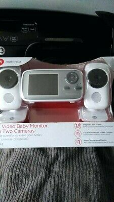 "Motorola MBP483-2 2.8"" Video Baby Infant Monitor with Two Cameras"