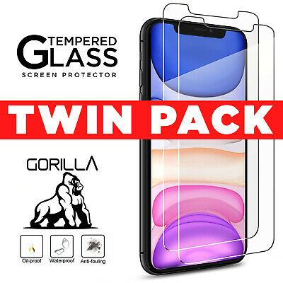 Genuine Gorilla Shield Tempered Glass Screen Protector For iPhone 11 Pro XR 6 SE