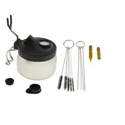 1Set New Multifunctional Airbrush Cleaning Pot Glass Filters with Clean Brushes