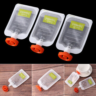 10PCS Reusable Baby Fresh Squeezed Pouch Weaning Food Puree Squeeze Storage HQ