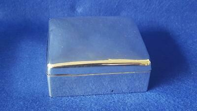 High-end Small H/M Sterling Silver Silk Lined 4 Ring Jewellery Box B'ham 1906