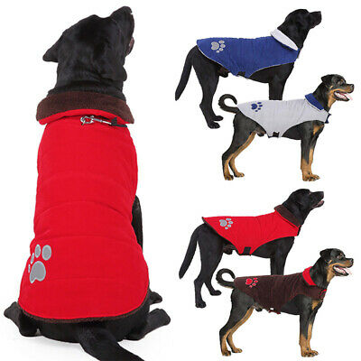 Dog Winter Waterproof Warm Padded Jacket Coats Clothes For Medium Large Pet UK