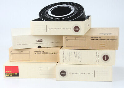 Kodak Slide Trays, Lot Of Seven 80 Slide Trays, With Boxes/183305