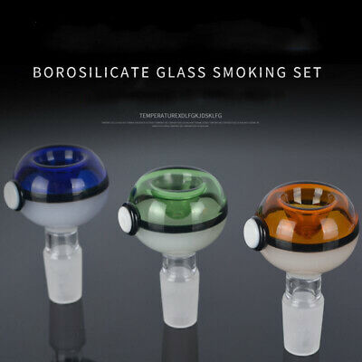 Colorful 14mm Borosilicate Glass Joint Male hookah Glass Bowl for glass bongs