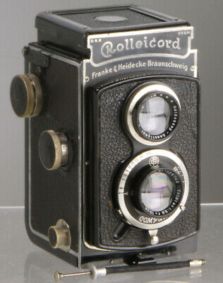 Rolleicord I (1935) Zeiss Jena lens +wire release _vintage TLR 6x6cm film camera