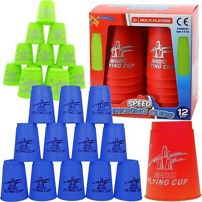 12Set Quick Speed Cup Stack Stacking Challenge Competition Party Game Toy Purple