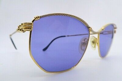 Vintage 80s FRED sunglasses gold filled cable twist Mod CYTHERE made in France