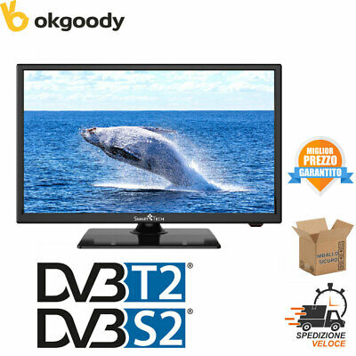 "Televisore Smart Tech Tv 22"" Led Full Hd Nero Dvb/T2/S2 Hotel Mode Smt-2219Dts"