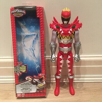 "POWER RANGERS 12"" Figure DINO Super Charge TRex Red Ranger Fury Christmas BanDai"