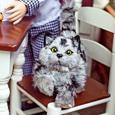 """The Queen's Treasures GREY KITTY CAT Accessory Pet For 18 """" American Girl Dolls"""