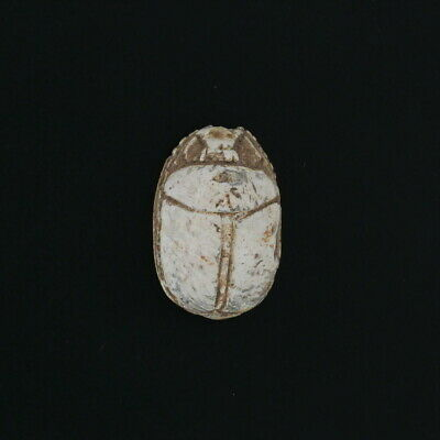 Ancient Egyptian Scarab Bead with Wax Seal - Carved Stone Relic