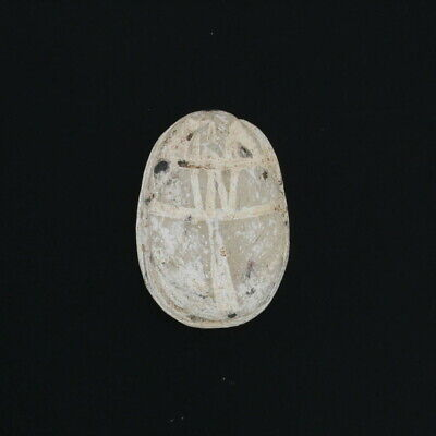 Ancient Egyptian Stone Scarab with Wax Seal - Carved Bead Relic Artifact