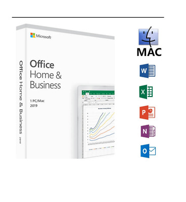 Office Home & Business 2019 For Mac | lifetime| per email
