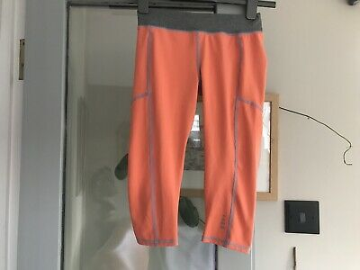 LANDS END ACTIVE WEAR GYM PANTS AGE UK 8-9 Years ORANGE GREY