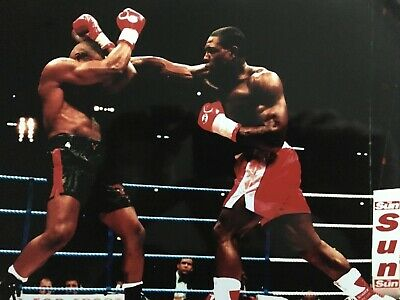 FRANK BRUNO - FORMER WORLD CHAMPION - EXCELLENT UNSIGNED PHOTOGRAPH v McCALL
