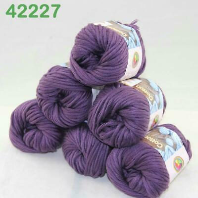 AIPYARN Sale 3Ballsx50g Soft Cotton Chunky Super Bulky Hand Knit Crochet Yarn 44