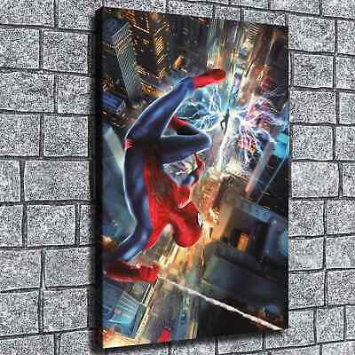 "12""x18""Spiderman Poster HD Canvas print Painting Home Decor Picture Wall art"