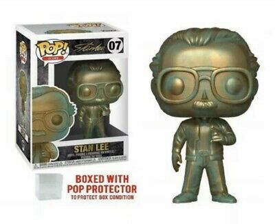 Funko Pop! Icons Stan Lee (patina) Vinyl Figure with .5mm (best) protector case