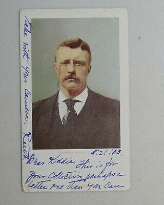 Theodore Roosevelt TR campaign political postcard President