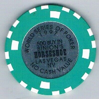 Binions Horseshoe  500 Buy In 1997 World Series OF Poker Casino Chip  Las Vegas