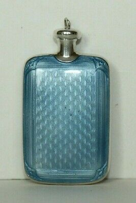 Vtg Art Deco Guilloche Enamel Double Sided Sterling Silver Perfume Snuff Bottle