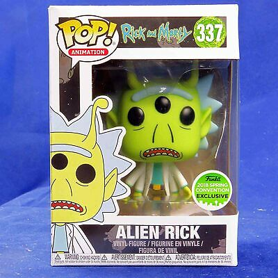 Funko Pop! Vinyl Figure Animation Rick and Morty #337 Alien Rick ECCC 2018