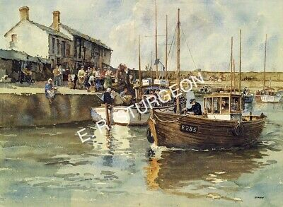 Watercolour Signed Limited Edition Art Print by Sturgeon of Lyme Regis, Dorset
