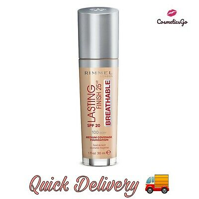 Rimmel Lasting Finish 25Hr Breathable  Foundation Spf 20 **Choose Your Shade**