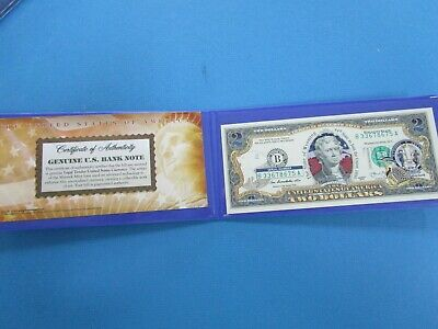 """USA Colorized TWO  Dollar Collectors Note ' Wyoming""""  Unc"""