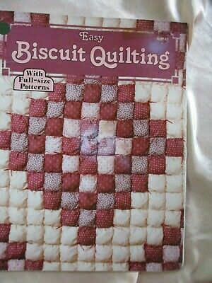 EASY BISCUIT QUILTING Booklet + Pattern Sheet Instructions-Uncut/ Unused