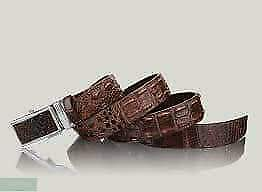 New Mens Red Wine Burgundy Alligator Print Leather Classic Nice Fashion Belt