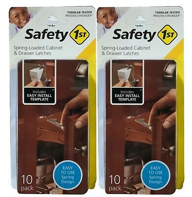 Safety 1st (2-Pack) Spring Loaded Cabinet & Drawer Latches 20 Total!